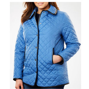 Quilted snap fall/winter barn jacket 28w #24-w3!